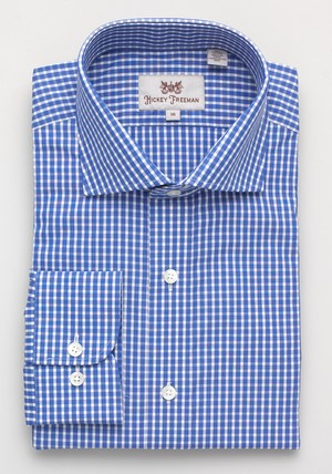 Sterling Collection Gingham Dress Shirt in Dark Blue