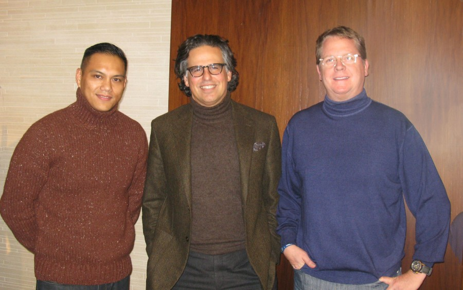 From left: Michael Salamanca, Senior Marketing Manager; Mike Cohen, Hickey Freeman President; Brett Schenck, Hart Schaffner Marx President.