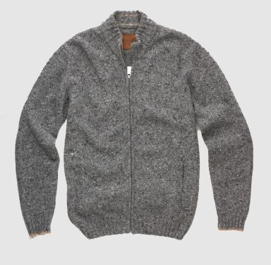 Sterling Collection Tweed Full Zip Sweater
