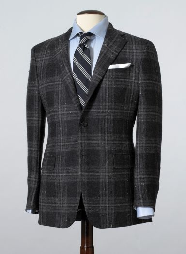 Mahogany Collection Large Grey Plaid Sportcoat