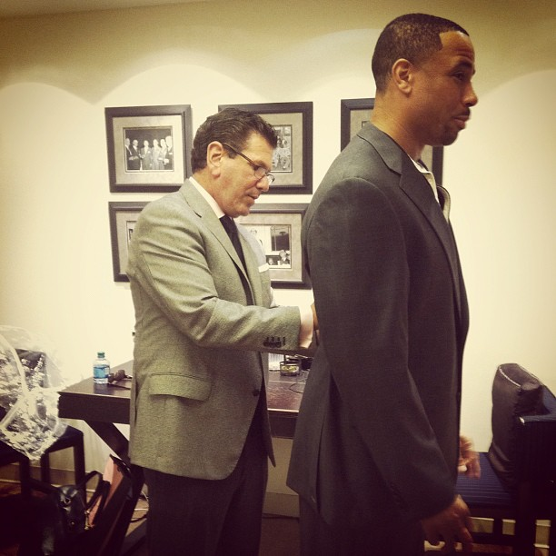 Deja vu? Here's Rodney Harrison of Sunday Night Football getting fitted for his own Hickey Freeman suits at our Madison Avenue store.