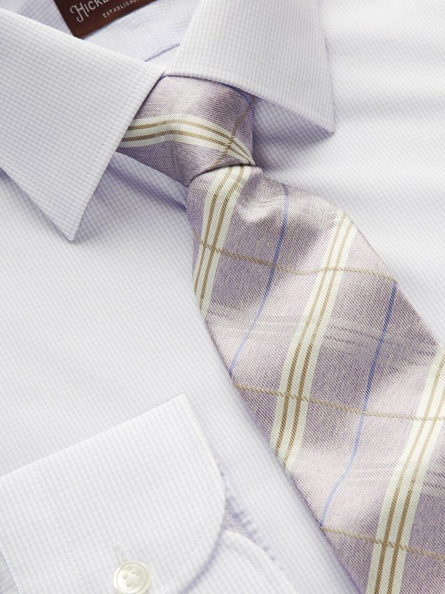 Our Pale Check Dress Shirt and Melange Plaid Tie.