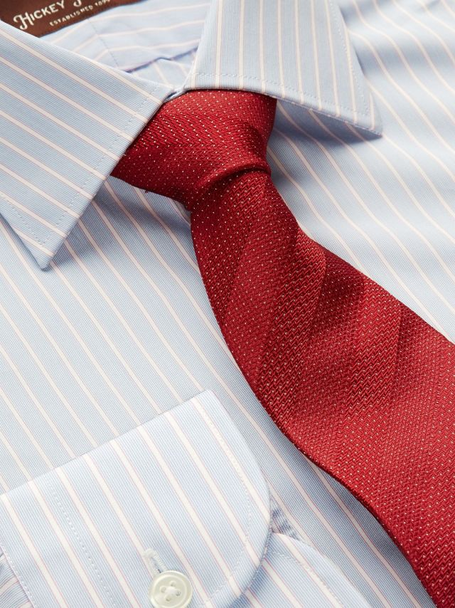 Our Two Color Stripe Dress Shirt and Shadow Stripe Tie.