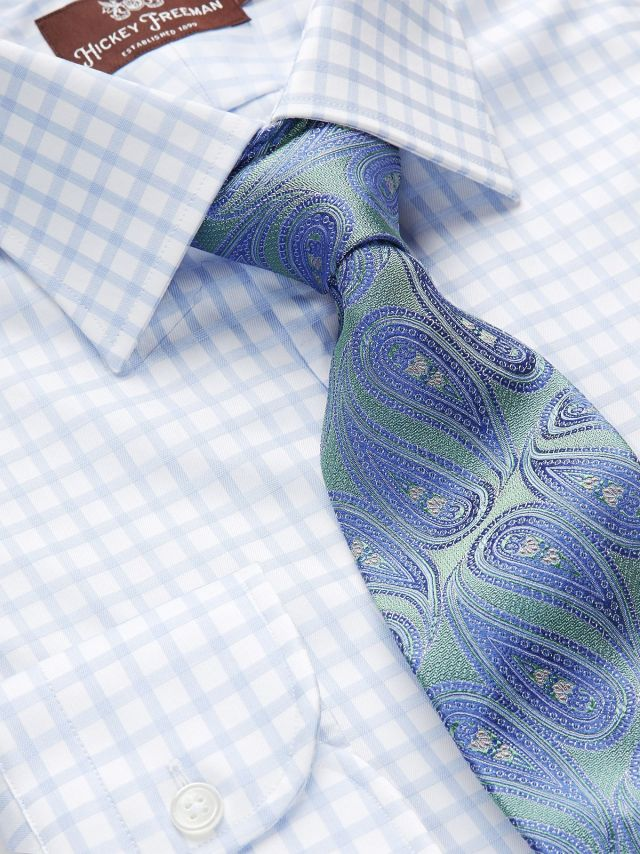 Our Windowpane Dress Shirt and Paisley Tie.